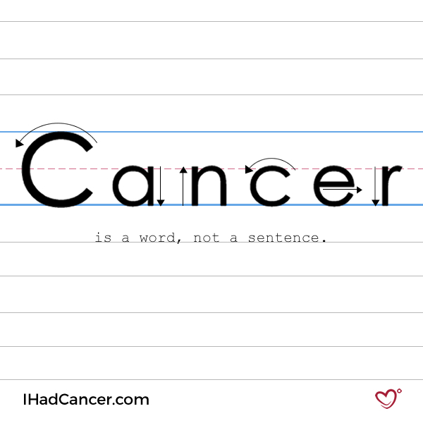 inspirational cancer quote cancer is a word not a sentence