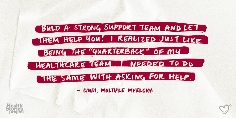Build a strong support team and let them help you! I realized just like being the